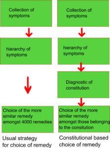 Choice remedy in homeopathy